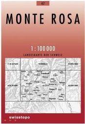 47 MONTE ROSA mapa topograficzna 1:100 000 SWISSTOPO