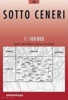 48 SOTTO CENERI mapa topograficzna 1:100 000 SWISSTOPO