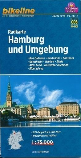 HAMBURG I OKOLICE mapa rowerowa BIKELINE RK-SH06