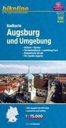 AUGSBURG I OKOLICE mapa rowerowa BIKELINE RK-BAY15