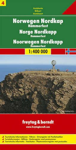 NORWEGIA PÓŁNOCNA cz. 4 Hammerfest mapa samochodowa 1:400 000 FREYTAG & BERNDT