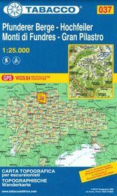 037 PFUNDERER BERGE - HOCHFEILER - MONTI DI FUNDRES - GRAN PILASTRO mapa turystyczna 1:25 000 TABACCO