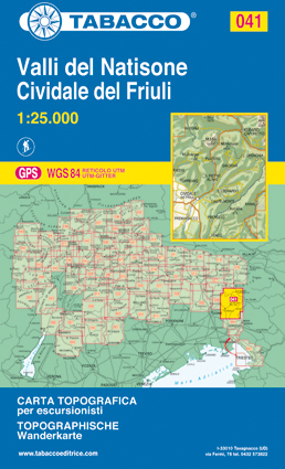 041 VALLI DEL NATISONE - CIVIDALE DEL FRIULI mapa turystyczna 1:25 000 TABACCO