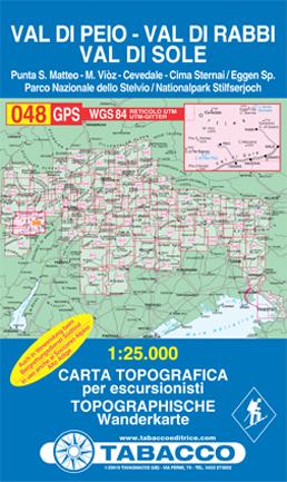 048 VAL DI PEIO - VAL DI RABBI - VAL DI SOLE mapa turystyczna 1:25 000 TABACCO