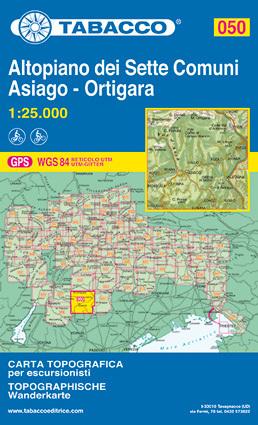 050 ALTIPIANO DEI SETTE COMUNI mapa turystyczna 1:25 000 TABACCO