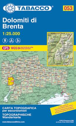 053 DOLOMITI DI BRENTA mapa turystyczna 1:25 000 TABACCO