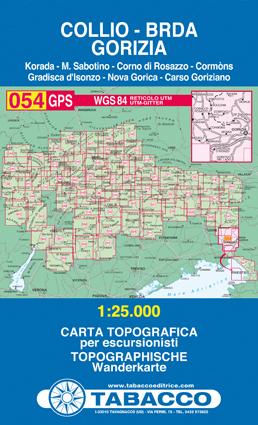 054 COLLIO - BRDA - GORIZIA mapa turystyczna 1:25 000 TABACCO