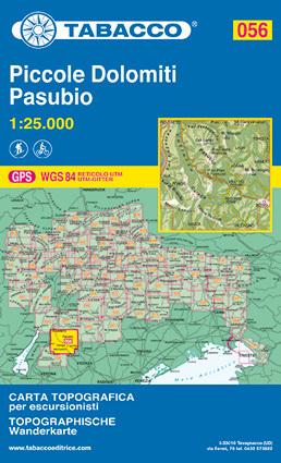 056 PICCOLE DOLOMITI - PASUBIO mapa turystyczna 1:25 000 TABACCO