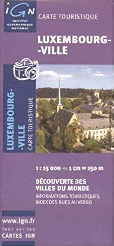 LUKSEMBURG LUXEMBOURG plan miasta 1:15 000 IGN