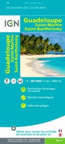 GWADELUPA GUADELOUPE mapa turystyczna 1:80 000 IGN
