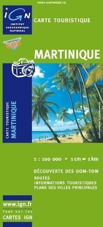 MARTYNIKA MARTINIQUE mapa turystyczna 1:100 000 IGN