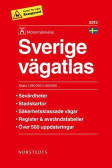 SZWECJA atlas samochodowy 1:250 000 / 1:400 000 NORSTEDTS 2013