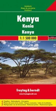KENIA KENYA mapa samochodowa 1:1 500 000 FREYTAG & BERNDT