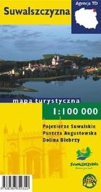 SUWALSZCZYZNA mapa turystyczna 1:100 000 mapa papierowa TD
