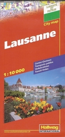 LAUSANNE LOZANNA plan miasta 1:10 000 HALLWAG