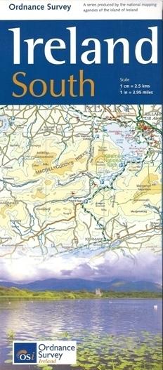 IRLANDIA POŁUDNIOWA mapa samochodowa 1:250 000 OSI