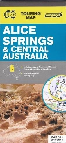 ALICE SPRINGS Australia Środkowa mapa UBD
