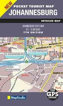 JOHANNESBURG plan miasta 1:15 500 MAPSTUDIO