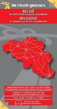 BELGIA I LUKSEMBURG mapa samochodowa 1:250 000 DE ROUCK GEOCART