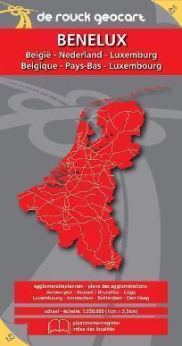 BELGIA LUKSEMBURG HOLANDIA mapa samochodowa 1:350 000 DE ROUCK GEOCART