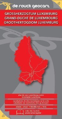 LUKSEMBURG mapa samochodowa i plan miasta 1:350 000 DE ROUCK GEOCART