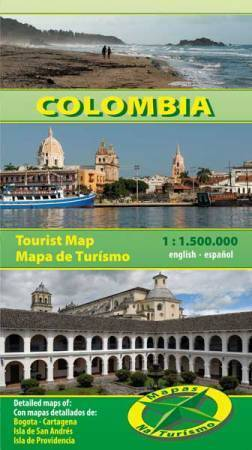 KOLUMBIA mapa turystyczna 1:1 500 000 NATURISMO