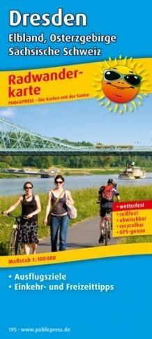 DREZNO I OKOLICE laminowana mapa turystyczna rowerowa PUBLICPRESS