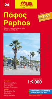 PAPHOS plan miasta w skali 1:9 000 ORAMA