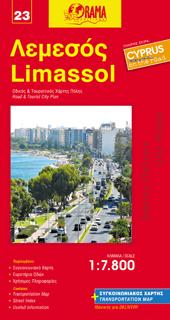 LIMASSOL plan miasta w skali 1:7 800 ORAMA NOWE