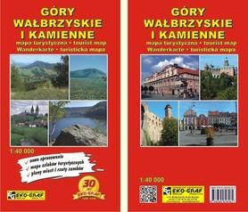 GÓRY WAŁBRZYSKIE I KAMIENNE mapa turystyczna 1:50 000 EKO-GRAF 2019