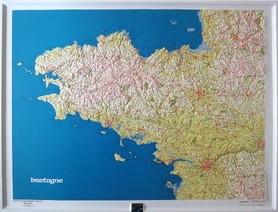 BRETANIA mapa plastyczna ścienna 1:500 000 IGN