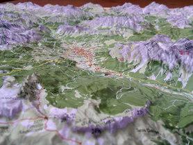 CORTINA D'AMPEZZO mapa plastyczna reliefowa 1:50 000 LAC