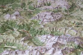 DOLOMITY VAL DI FASSA VAL GARDENA mapa plastyczna reliefowa 1:50 000 LAC