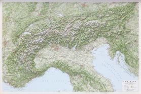 ALPY mapa plastyczna reliefowa 1:1 000 000 LAC