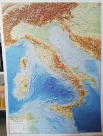 WŁOCHY mapa plastyczna 1:1 500 000 LAC