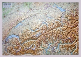 SZWAJCARIA mapa plastyczna 1:300 000 LAC