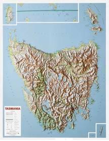 TASMANIA mapa plastyczna 1:550 000 LAC