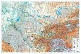 AZJA CENTRALNA mapa ścienna geograficzna GIZIMAP