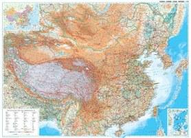CHINY mapa ścienna geograficzna (PLAKAT W TUBIE) GIZIMAP