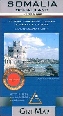 SOMALIA mapa geograficzna 1:1 750 000 GIZIMAP