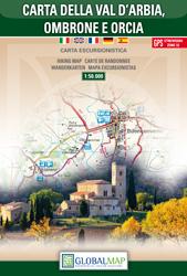 VAL D'ARBIA - OMBRONE E ORCIA mapa turystyczna 1:50 000 LAC