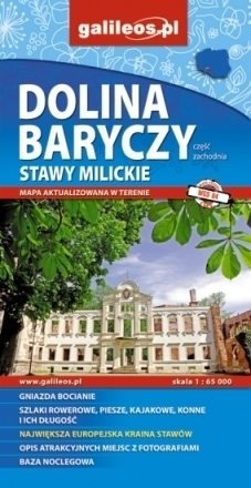 DOLINA BARYCZY cz. zachodnia STAWY MILICKIE 1:65 000 mapa turystyczna STUDIO PLAN