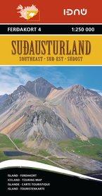 SUDAUSTURLAND ISLANDIA atlas samochodowy 1:250 000 FERDAKORT