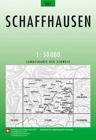 205 SCHAFFHAUSEN mapa topograficzna 1:50 000 SWISSTOPO