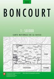 212 BONCOURT mapa topograficzna 1:50 000 SWISSTOPO