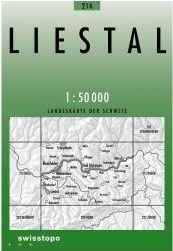 214 LIESTAL mapa topograficzna 1:50 000 SWISSTOPO