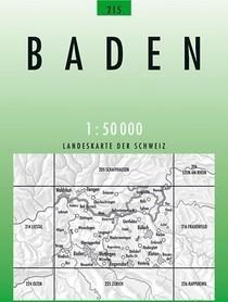 215 BADEN mapa topograficzna 1:50 000 SWISSTOPO