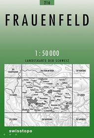 216 FRAUENFELD mapa topograficzna 1:50 000 SWISSTOPO