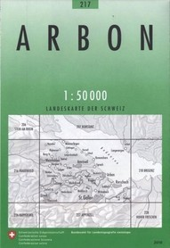 217 ARBON mapa topograficzna 1:50 000 SWISSTOPO