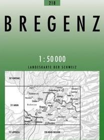 218 BREGENZ mapa topograficzna 1:50 000 SWISSTOPO